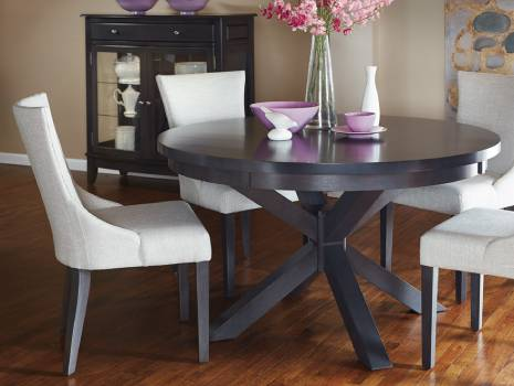 Bx402 5 Pc Round Dining Set Dinettes, Round Dining Set For 4